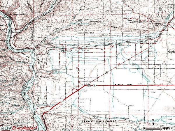Zip code 98848 topographic map