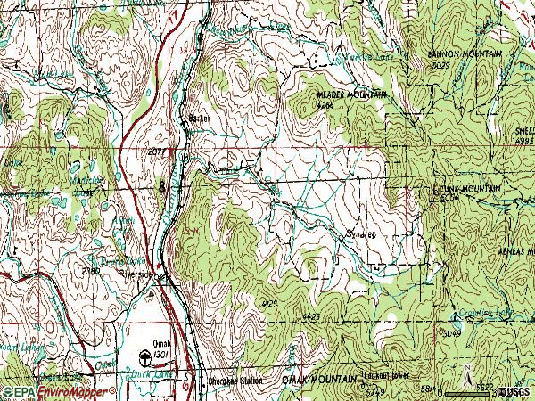 Zip code 98849 topographic map
