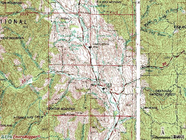 Zip code 98856 topographic map