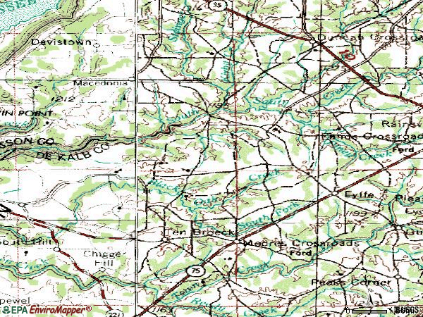 Zip code 35971 topographic map