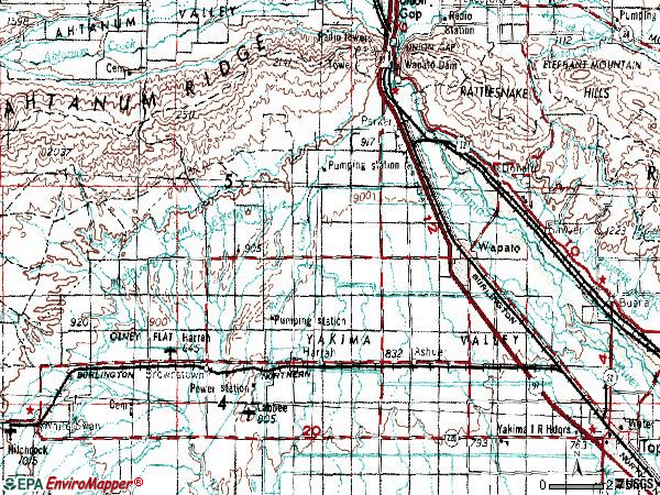 Zip code 98951 topographic map