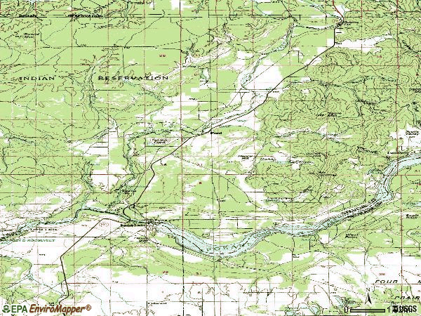 Zip code 99013 topographic map