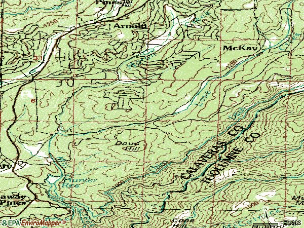 Zip code 95224 topographic map