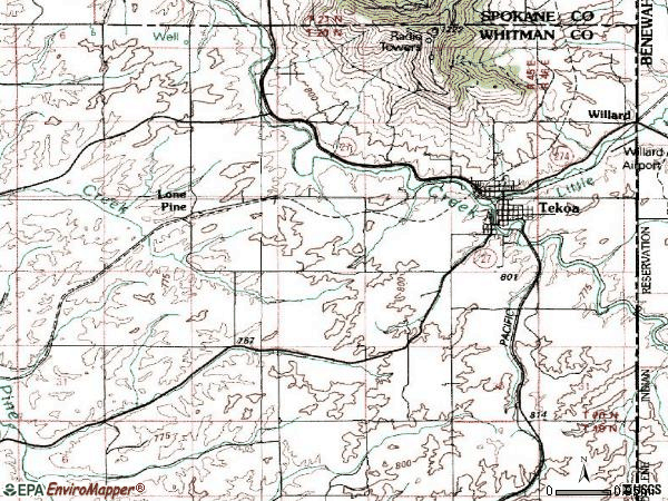 Zip code 99033 topographic map
