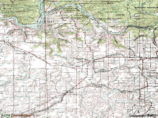 Zip code 99122 topographic map
