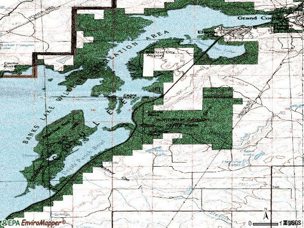 Zip code 99123 topographic map