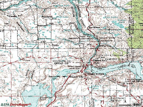 Zip code 99133 topographic map