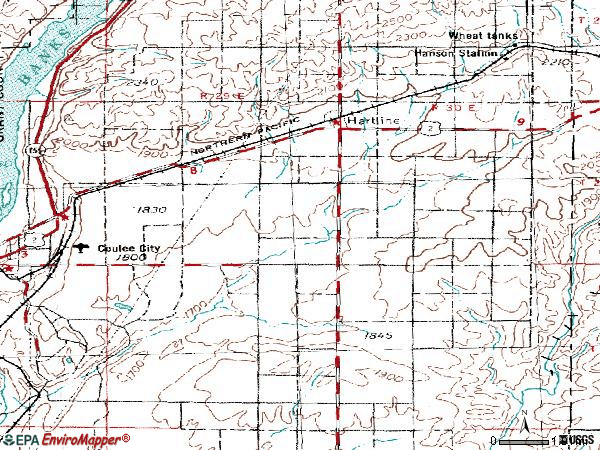 Zip code 99135 topographic map