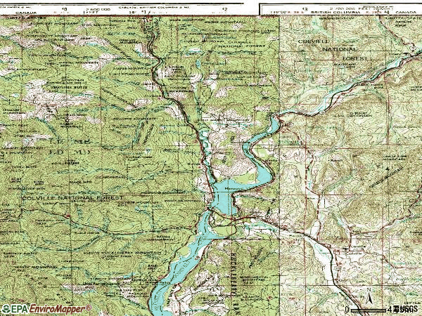 Zip code 99141 topographic map