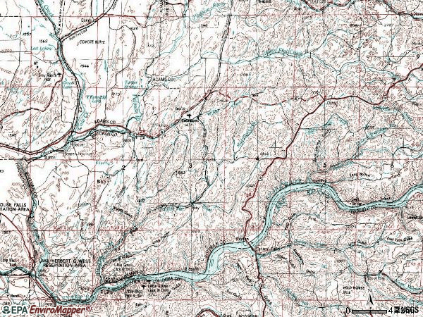 Zip code 99143 topographic map