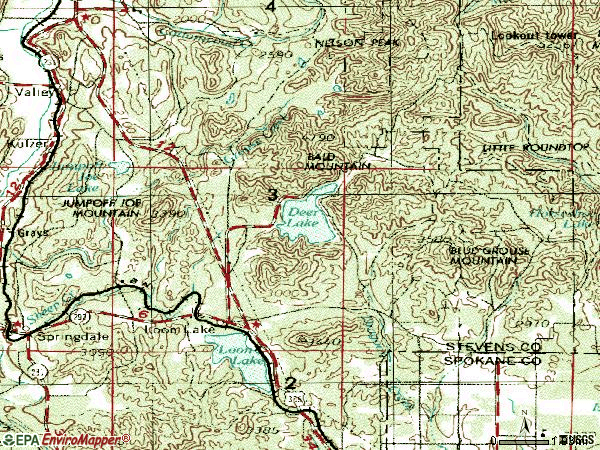 Zip code 99148 topographic map