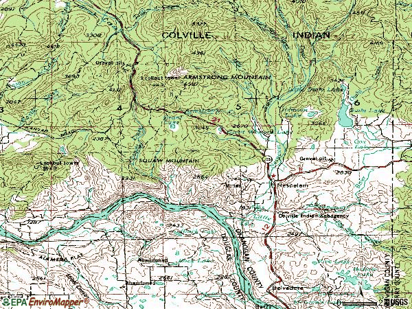Zip code 99155 topographic map