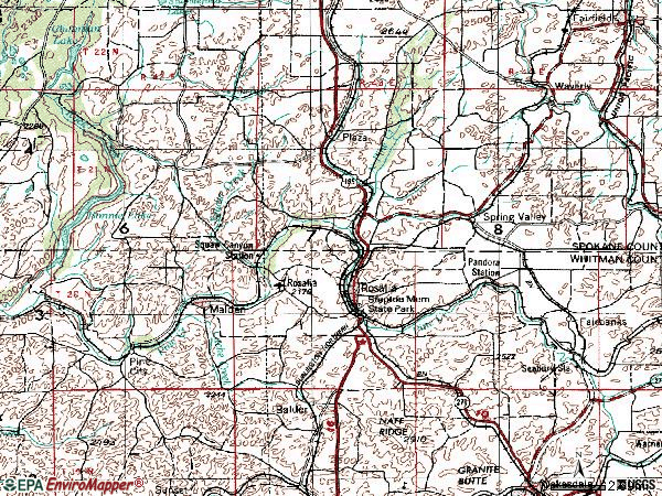 Zip code 99170 topographic map
