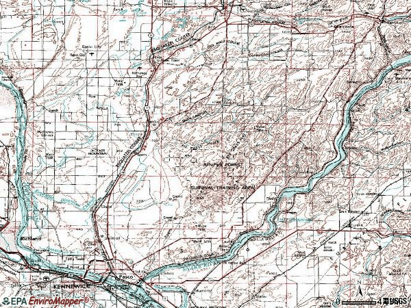Zip code 99301 topographic map