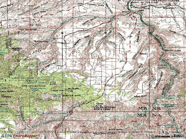 Zip code 99402 topographic map