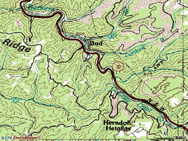 Zip code 24716 topographic map