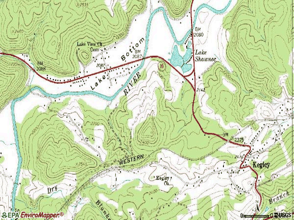 Zip code 24731 topographic map
