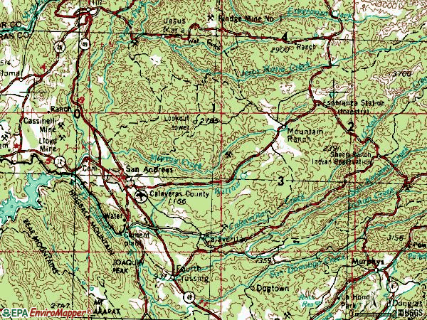 Zip code 95249 topographic map
