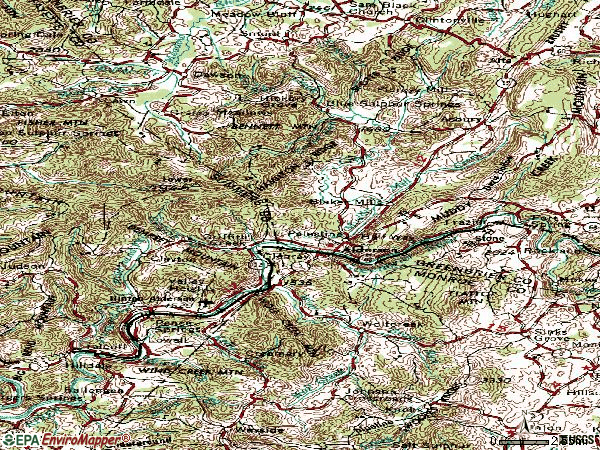 Zip code 24910 topographic map