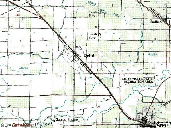Zip code 95315 topographic map