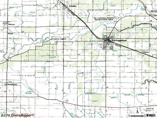 Zip code 95334 topographic map