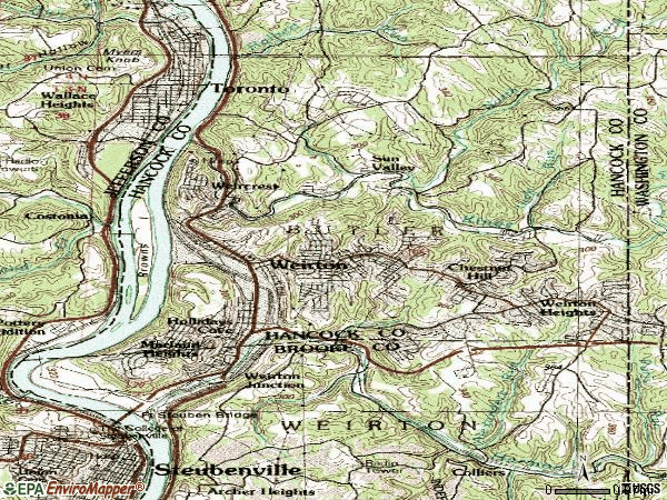 Zip code 26062 topographic map