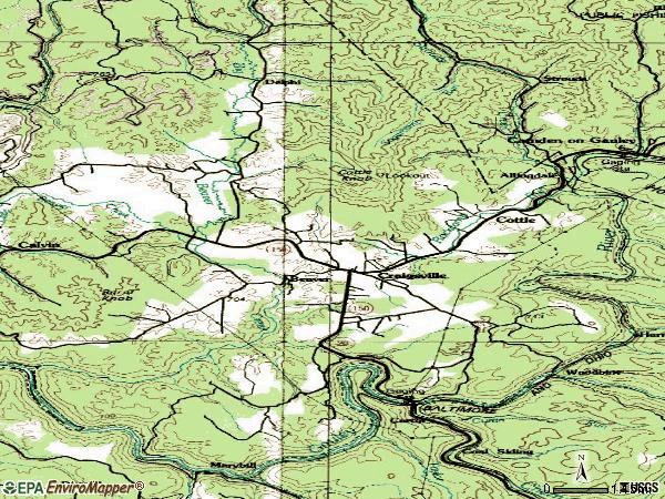 Zip code 26205 topographic map
