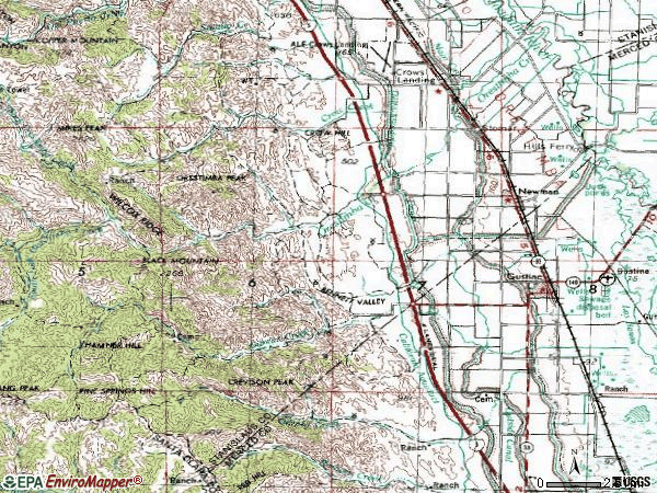 Zip code 95360 topographic map