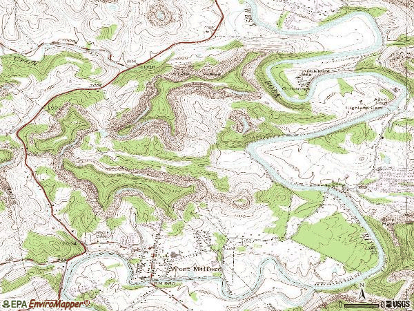 Zip code 26451 topographic map