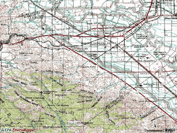 Zip code 95376 topographic map