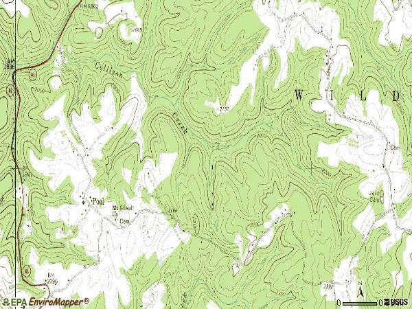 Zip code 26684 topographic map