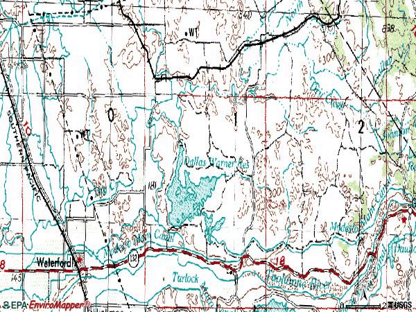 Zip code 95386 topographic map
