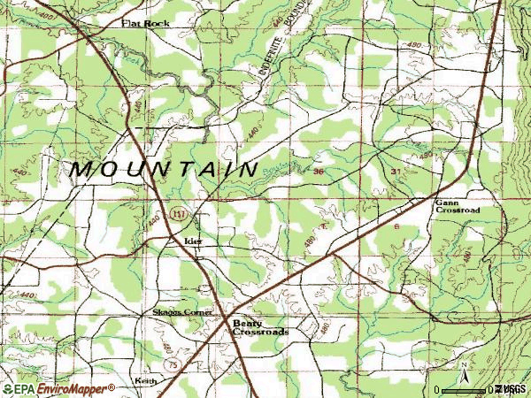 Zip code 35981 topographic map