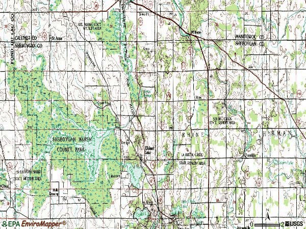 Zip code 53020 topographic map