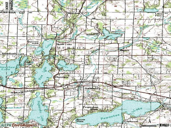 Zip code 53029 topographic map