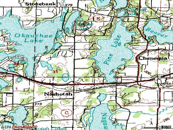 Zip code 53058 topographic map