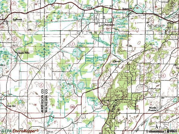 Zip code 53118 topographic map