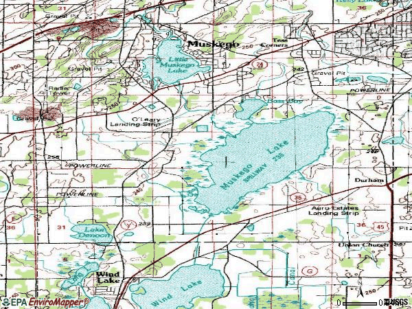 Zip code 53150 topographic map