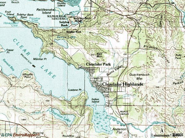 Zip code 95422 topographic map