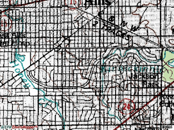 Zip code 53219 topographic map
