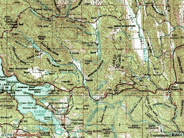 Zip code 95423 topographic map