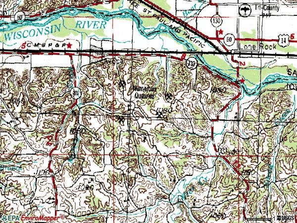 Zip code 53506 topographic map