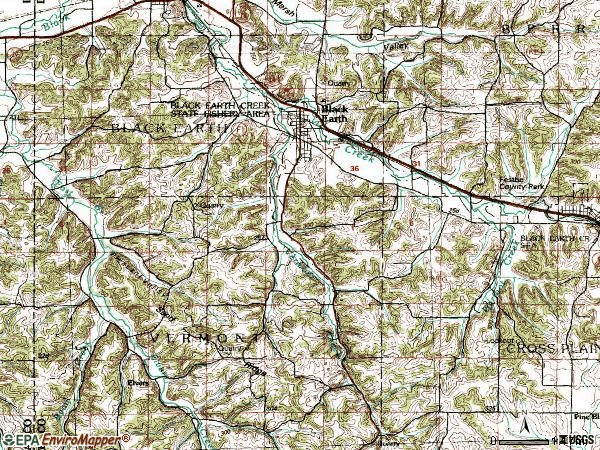 Zip code 53515 topographic map