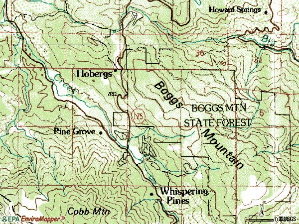 Zip code 95426 topographic map
