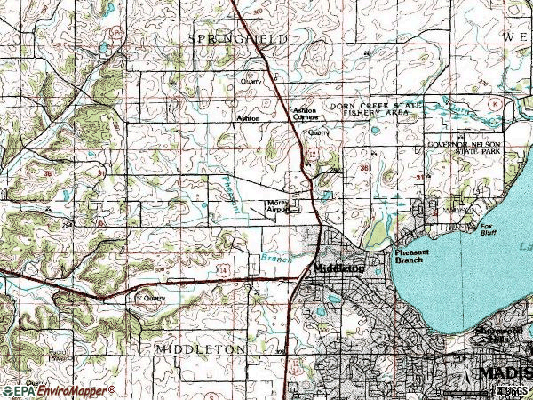 Zip code 53562 topographic map