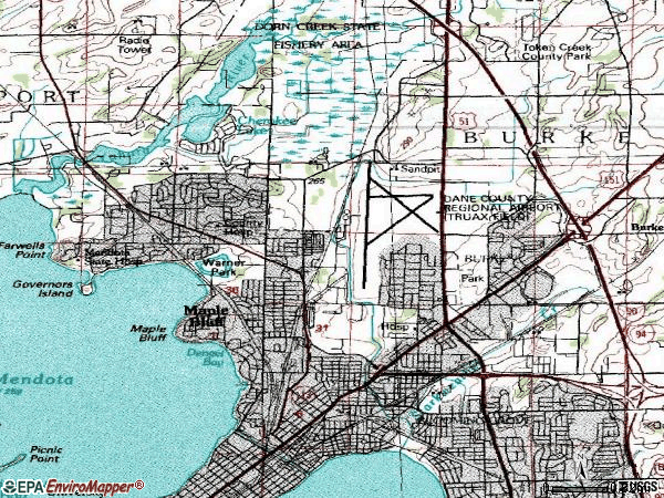 Zip code 53704 topographic map