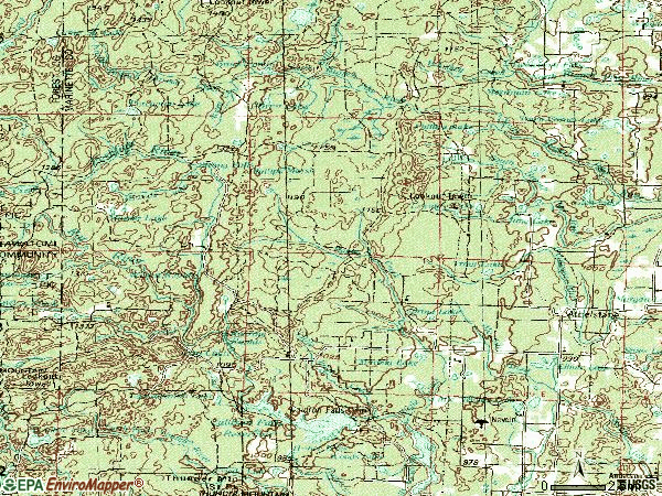 Zip code 54104 topographic map