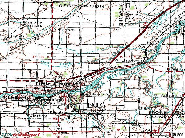Zip code 54130 topographic map