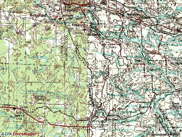 Zip code 54151 topographic map