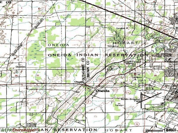 Zip code 54155 topographic map